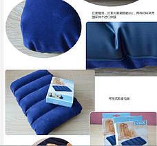 Intex Подушка 68672 надувная, синяя 43х28х9 см.  , фото 3
