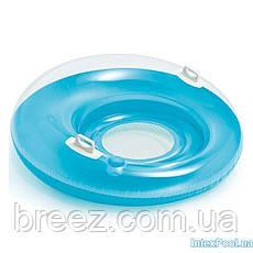 Надувное кресло-круг для плавания Intex 119 см с держателями для рук, фото 2
