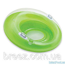 Надувное кресло-круг для плавания Intex 119 см с держателями для рук, фото 3