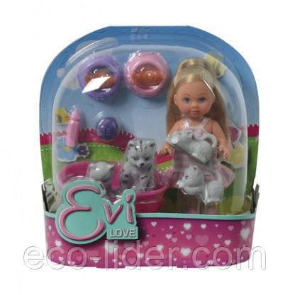 Кукла Эви с животными, 3+