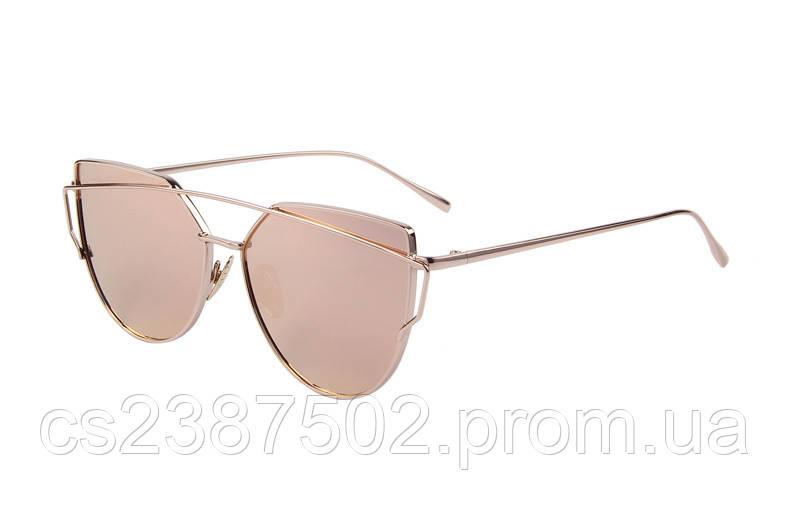 Солнцезащитные очки Merry s кошачий глаз золотая оправа розовые зеркальные  линзы - Smartshop в Броварах 8347e3911d9