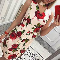 Лёгкое летнее платье Розы (персик) , фото 1
