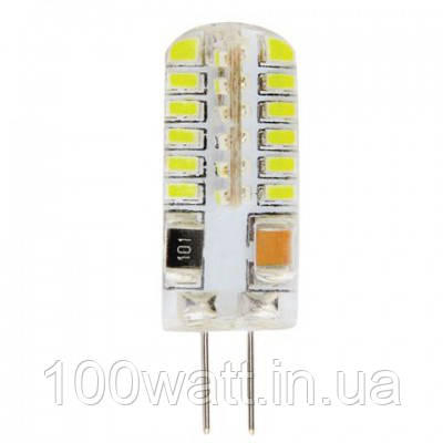Лампа светодиодная  G4 2700K 220v 3W капсула в селиконе