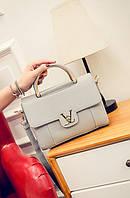 Жіноча сумочка маленька сіра через плече