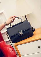 Женская сумочка маленькая черная через плечо опт, фото 1