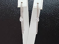 Серебряные серьги Лаунж. Артикул 2905/9Р-CZ, фото 1