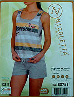 Костюм женский летний пижама комплект ТРОЙКА Турция