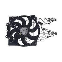 Вентилятор радиатора с кожухом (385мм/300Вт) FIAT Doblo 10- не оригинал