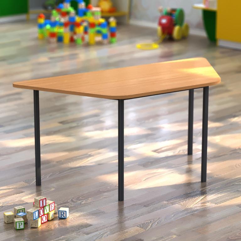 Детский стол трапециевидный 1180*510*h