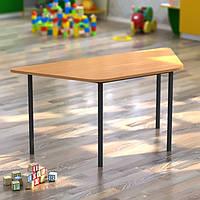 Дитячий стіл трапецієподібний 1180*510*h