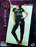 Костюм женский летний комплект футболка+штаны Турция