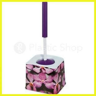 Ершик для туалета с рисунком Орхидеи