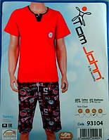 Мужской летний комплект пижама футболка+капри Турция L