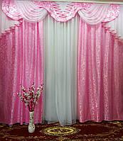 """Комплект штор с ламбрекеном для залы и спальни """"Дана"""", фото 1"""