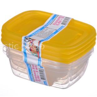 Набор контейнеров Ал-Пластик Econom box 3шт (0,4л)