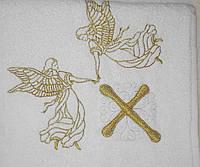 Крестильное полотенце - Крыжма хлопок 100*100 см. Турция, фото 1