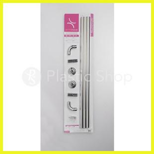 Карниз для ванной комнаты угловой Prima (хром)