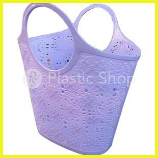 Сумка Shopper Ажурная фиолетовая