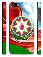 Чехол для iPhone 4/4s/5/5s/5с, Азербайджан, флаг с гербом
