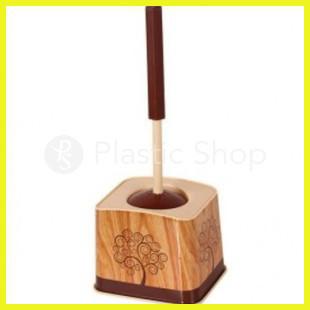 Ершик для туалета с рисунком Wooden