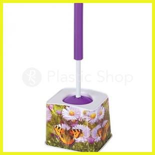 Ершик для туалета с рисунком Цветы