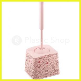 Ершик для туалета Ажурный Розовый