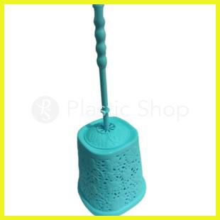 Ершик для туалета Ажурный цветы Голубой