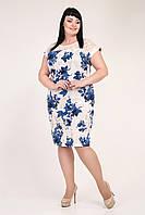 Нежное льняное платье  больших размеров