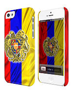 Чехол для iPhone 4/4s/5/5s/5с, Армения флаг  с гербом