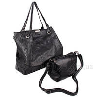 Женская сумка 2 в 1 наплечная блестящая 408017B
