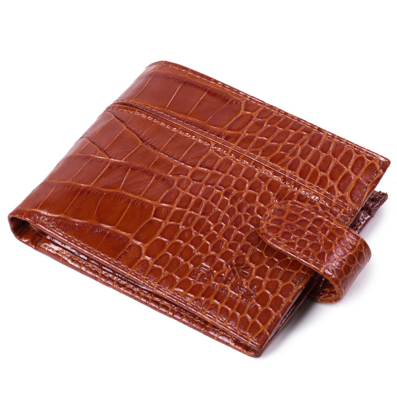Мужское портмоне кожаное светло-коричневое Eminsa 1027-4-2