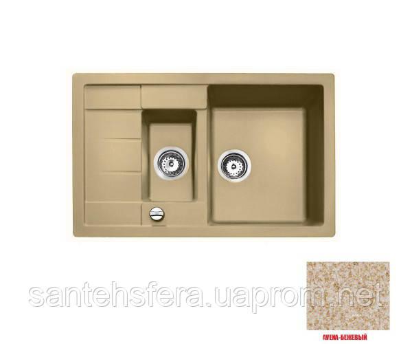Гранитная кухонная мойка ADAMANT ANILA PLUS 780X500X200 цвет Авена