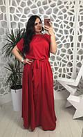 Нарядное длинное платье в пол красного цвета, фото 1