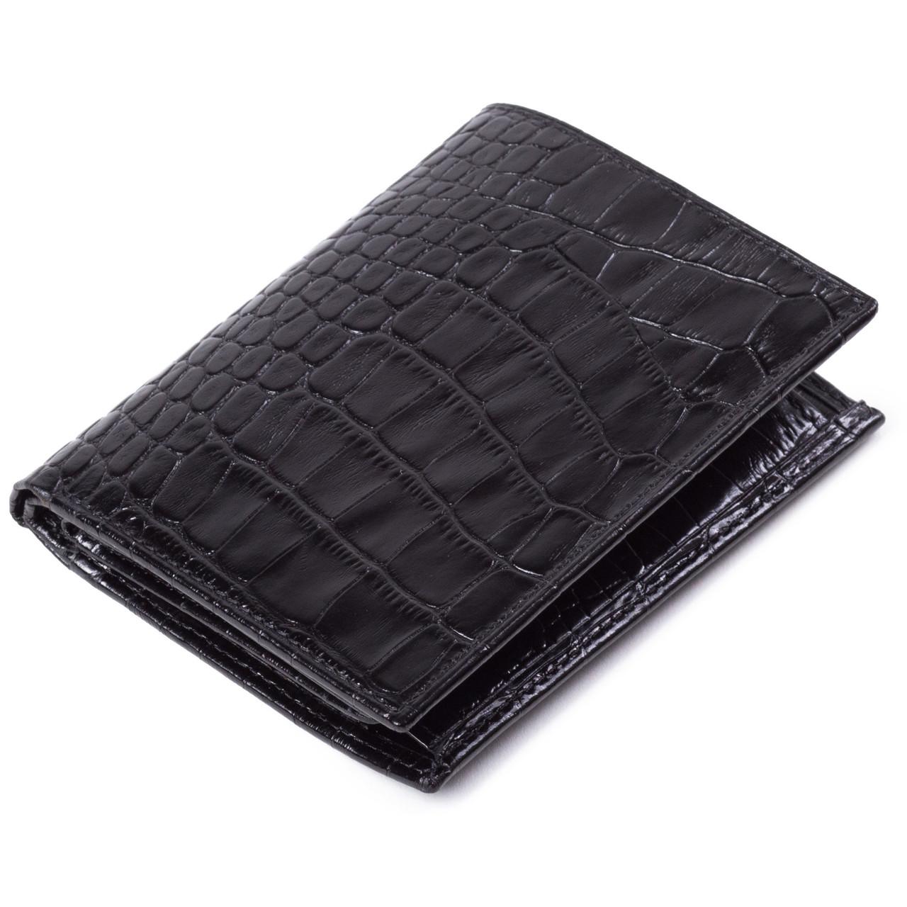 Мужской кошелек Eminsa 1023-4-1 кожаный черный