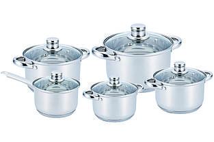 Набор нержавеющей посуды. 10 предметов - Benson
