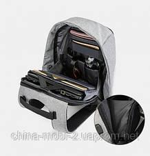 Рюкзак протикрадій з USB Pinao travel bag 9009, сірий, фото 3