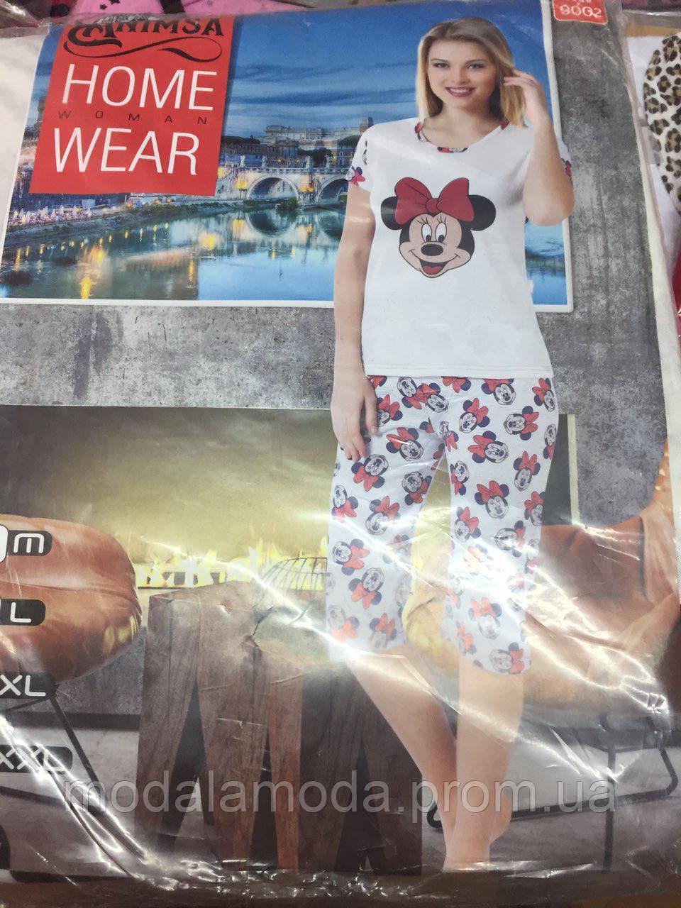 eabc67cb65d1 Пижама для сна женская футболка с бриджами