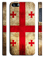 Чехол для iPhone 4/4s/5/5s/5с, Грузия флаг