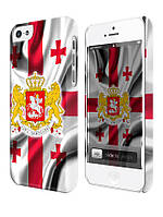 Чехол для iPhone 4/4s/5/5s/5с, Грузия флаг с гербом