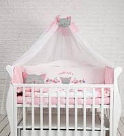 Детский постельный комплект Dckids CUTE CAT БК-020, розовый