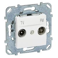 Розетка ТВ-R конечная Белый Unica Schneider, MGU5.452.18ZD