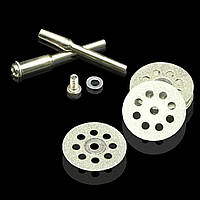 Набір алмазних дисків 22 мм - 5 шт+ 1 тримача для гравера, бормашинки, дремел ( Dremel )