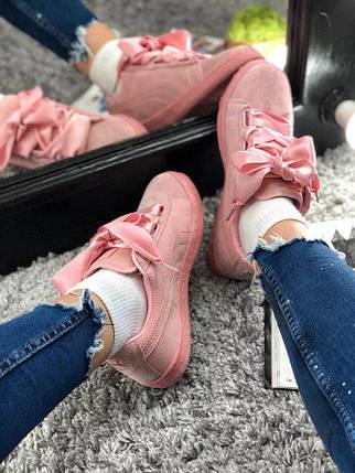 Женские Puma Suede Heart Prism Pink| Реплика | топ качество, фото 2