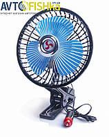 """Автомобильный вентилятор / обдув салона авто / охлаждающий вентилятор 6"""" (15,2 см), 12 В, решетка металл"""