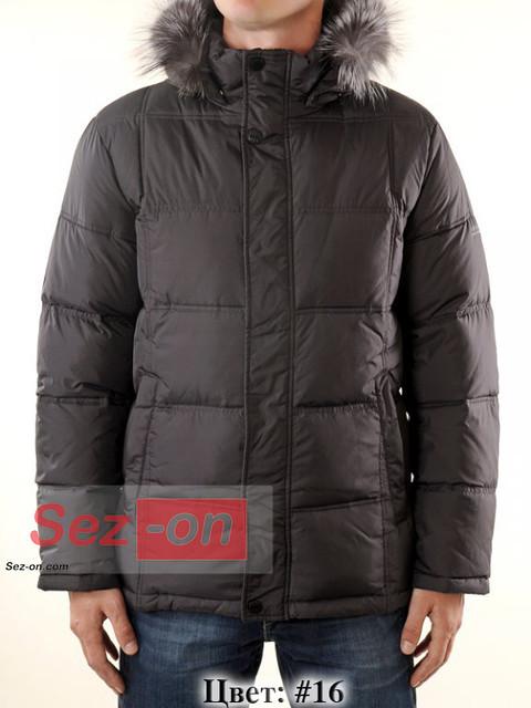Пуховик Malidinu зимний с мехом M-11633 Темно-серый #16