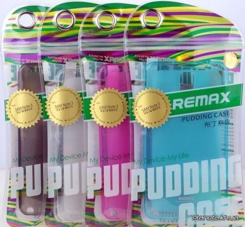 Remax Pudding case силиконовый чехол-накладка  для Samsung Note 3 прозрачный + пленка
