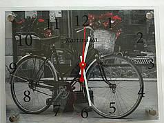 Часы-картина 30x40 см, под стеклом, Велосипед