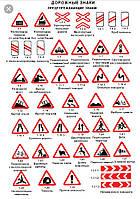 Дорожный знак предупреждающий