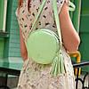 Женская кожаная сумка Джастина   Фисташка