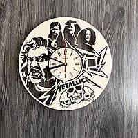 Деревянные часы на стену «Metallica», фото 1
